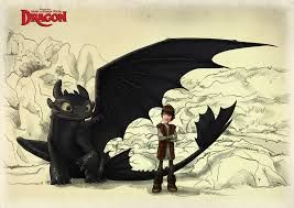 hiccup drawing toothless scene - Google Search