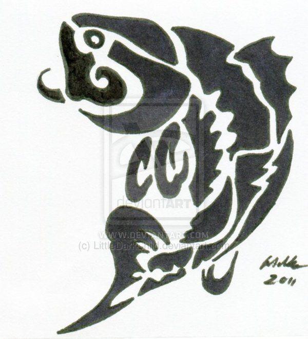 e22feb78894f6 Bass Fish Tribal Tattoo Designs Nice!   Fishing for Fun and ...