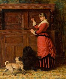Cupboard Love by Briton Riviere depicts Potter's cousin Kate.