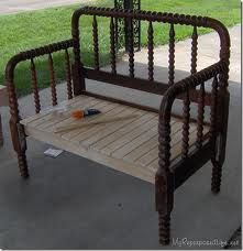 How To Make A Spool Bed Into Useful Headboard Bench Great Tutorial Show You Your Own From Vintage Jenny Lind