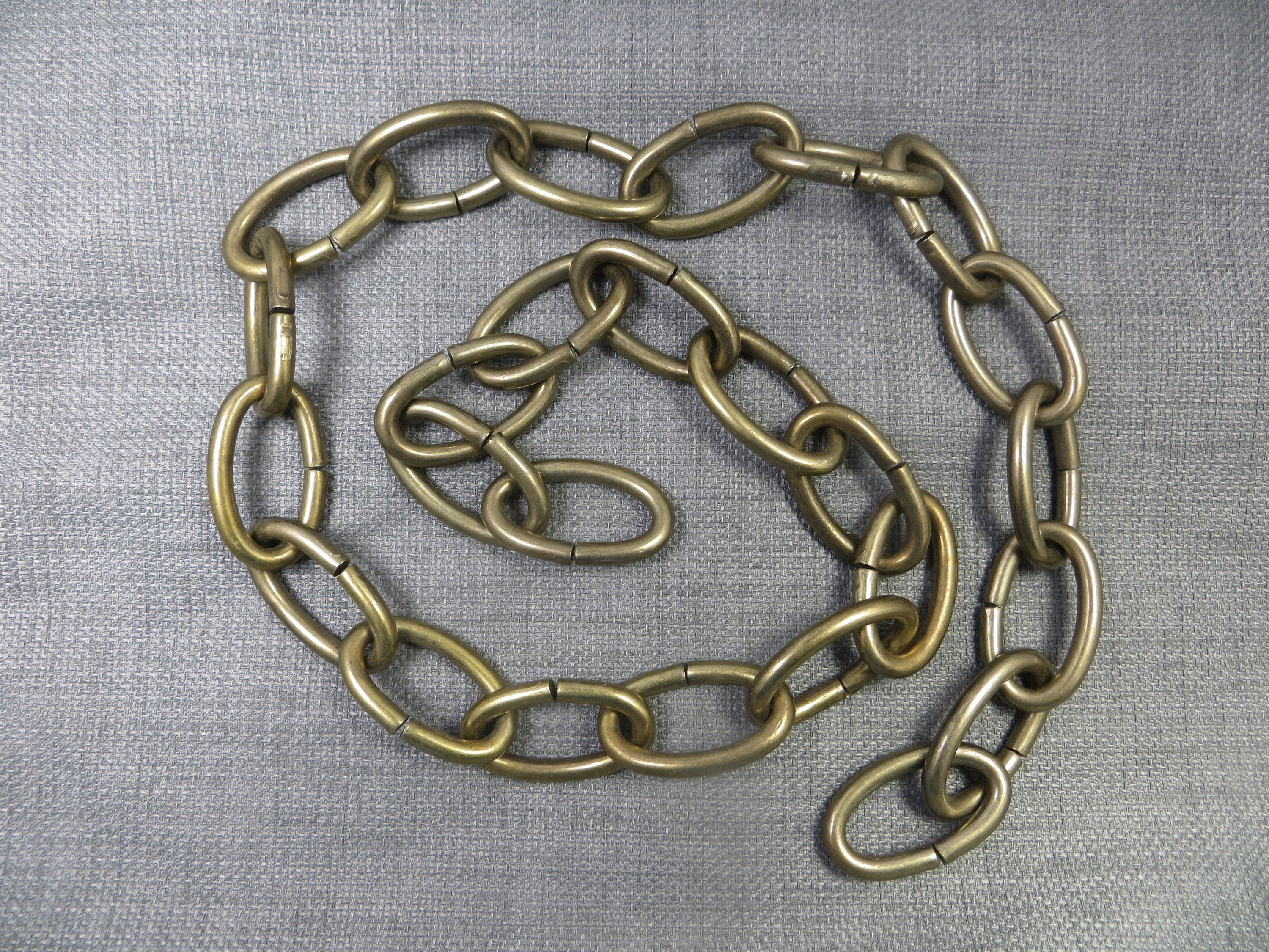 Antiqued Brass Chain Solid Oval Metal Links 3 Foot Long Length Hanging Lamp Chain Mis 1a Stones For Jewelry Making Brass Chain Loose Stones