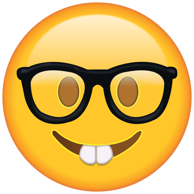Download Nerd With Glasses Emoji Emoji Stiker Gambar