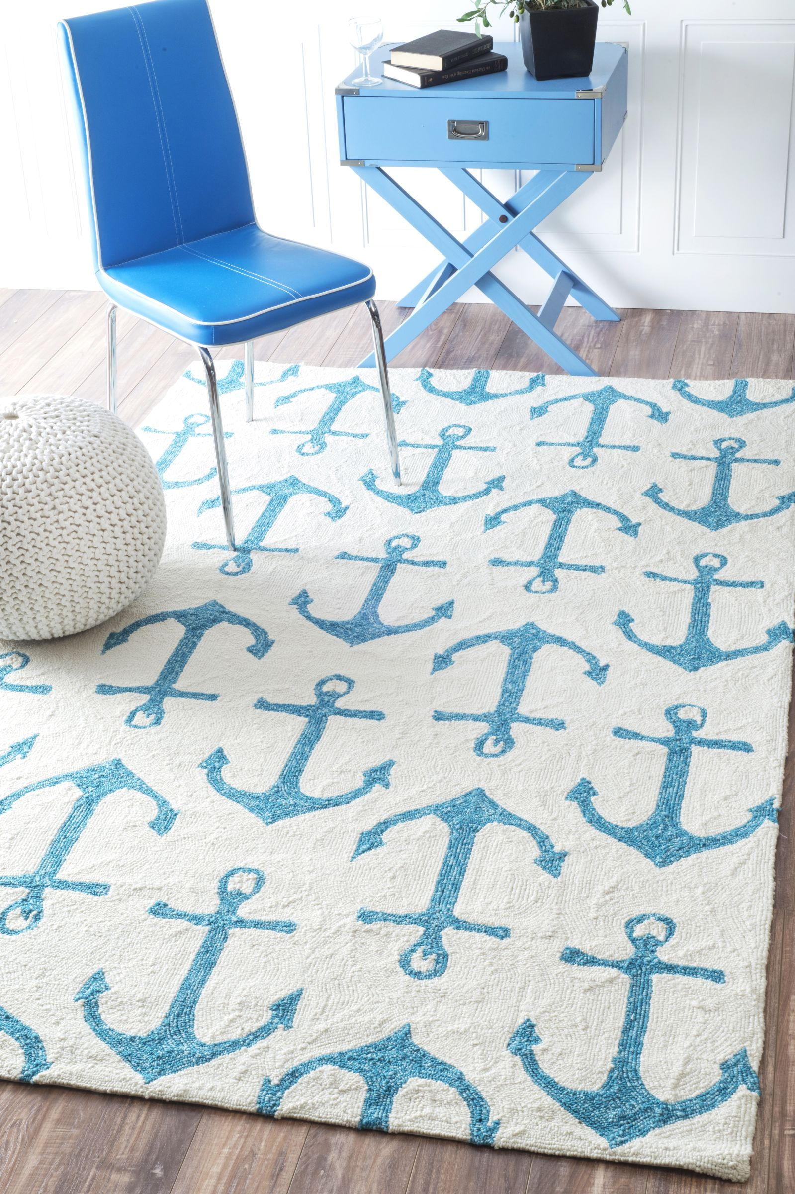 Open For Business Message Nautical Area Rugs Anchor Decor Handmade Novelty