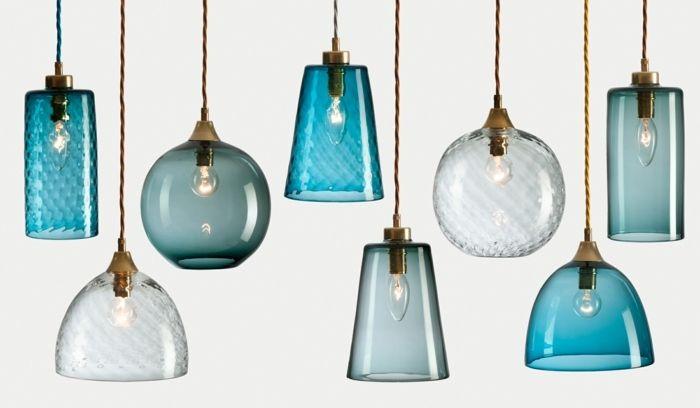 retro lampen in verschiedenen blaut nen und formen erste wohnung pinterest design lampen. Black Bedroom Furniture Sets. Home Design Ideas