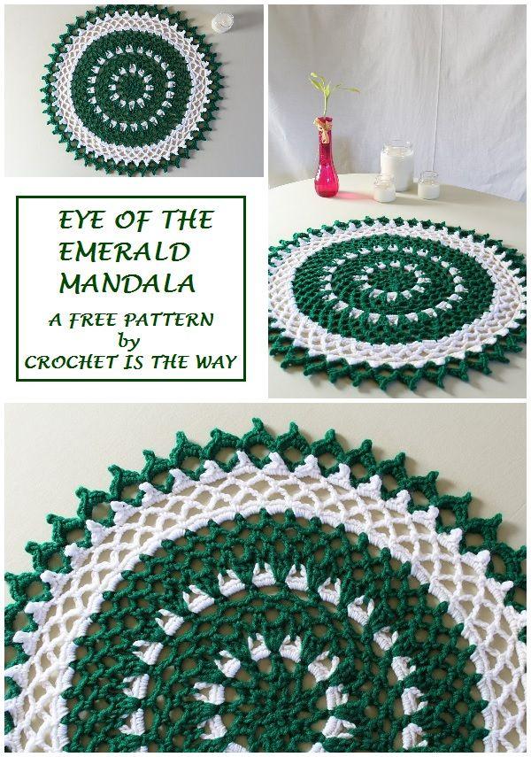 Crochet is the Way: Eye of the Emerald Mandala | mandala y atrapa ...