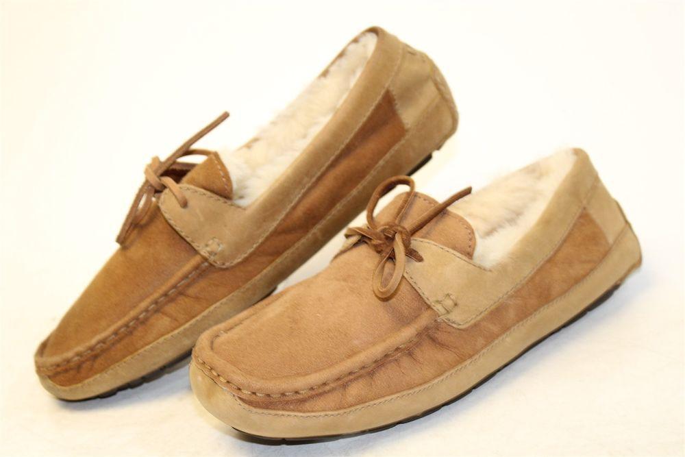 20d7309c1d938 UGG Australia Mens 9 42 Byron NEW $139 Suede Moccasins Slippers ...