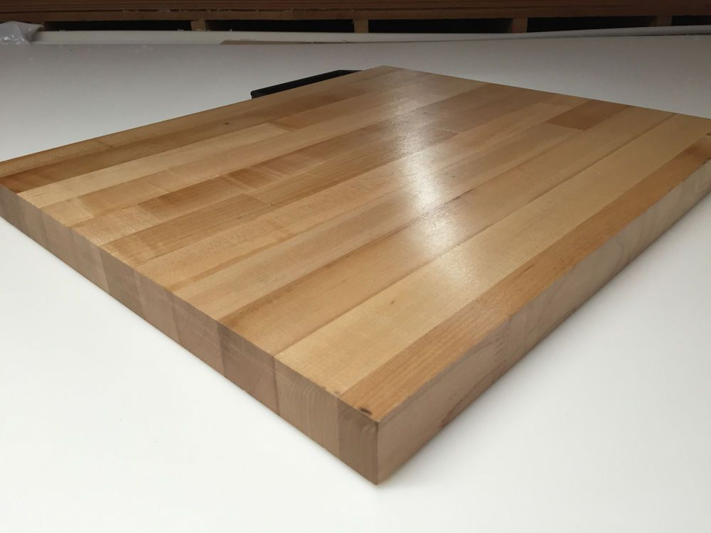 Butcher Block Countertop 50 in x 25 in x 1.5 in Solid Wood Unfinished Birch