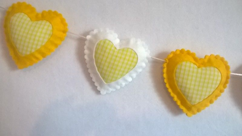 Spring Yellow Easter Room Wall Decor, Yellow and White Gingham ...