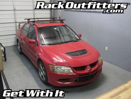 Mitsubishi Lancer Sedan Thule Rapid Traverse Black Aeroblade Base Roof Rack Mitsubishi Lancer Roof Rack Lancer