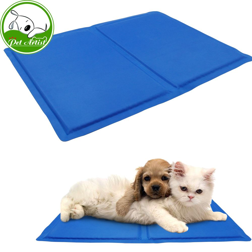 Click To Buy Dog Cat Cooling Mat Ice Pad Soft Self Cooling Gel Pad For Kennel Crates And Beds For Small Medium D Pet Cooling Mat Dog Pet Beds Cool Pets
