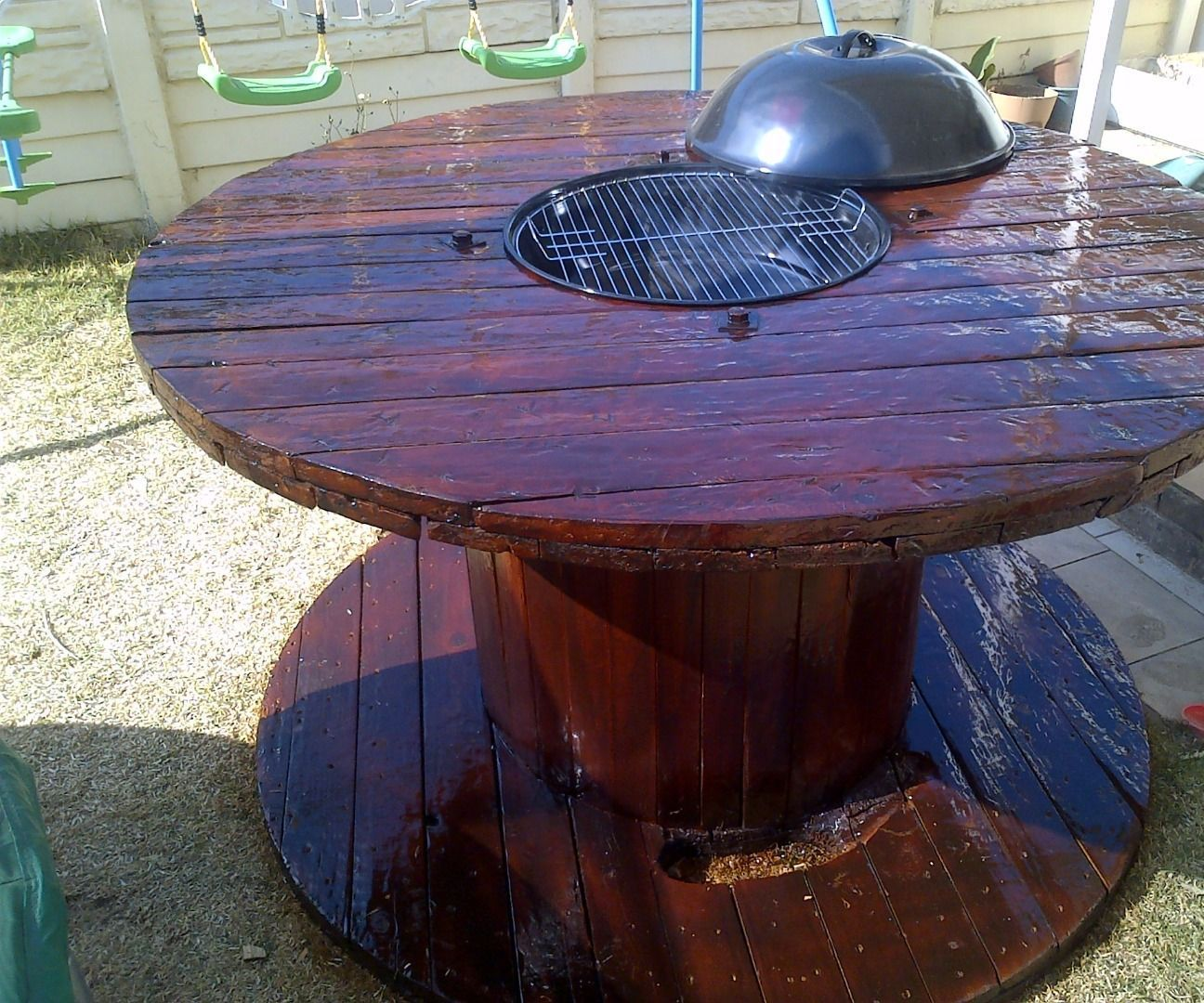 Bbq Braai Table Cable Spool Ideas Yards And Wooden