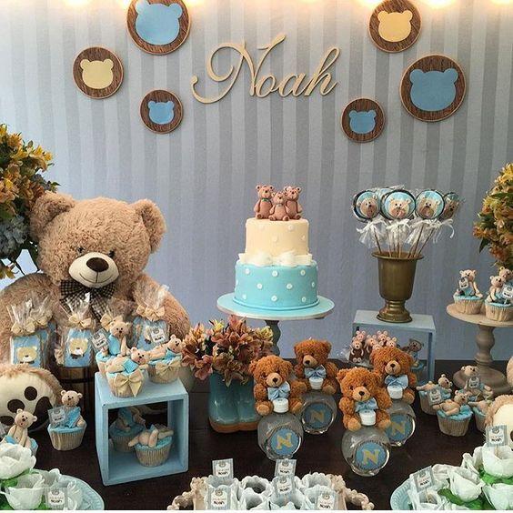 Ideas Baby Shower Nino Ositos.Pin By Vanessa On Baby Shower Teddy Bear Baby Shower Baby
