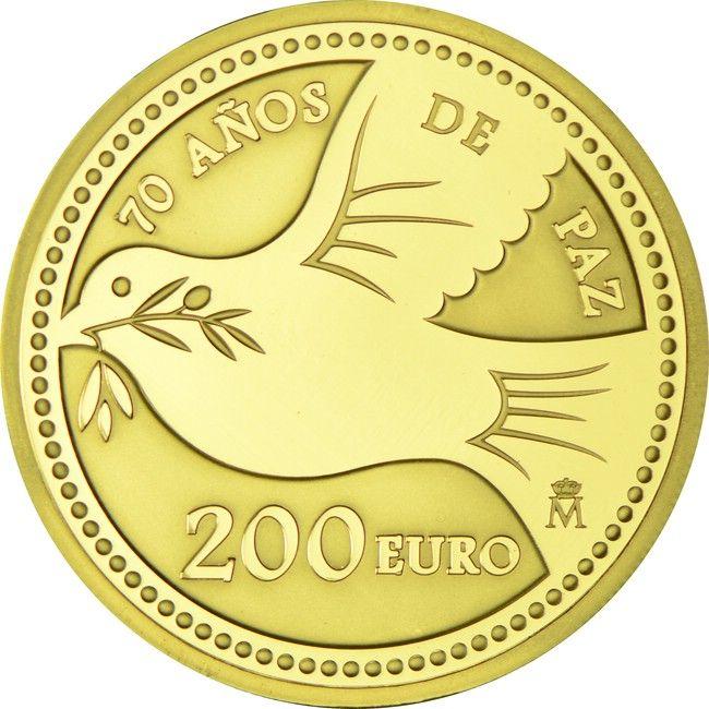 200 Euro Gold Europastern 70 Jahre Frieden Pp Coins Pinterest