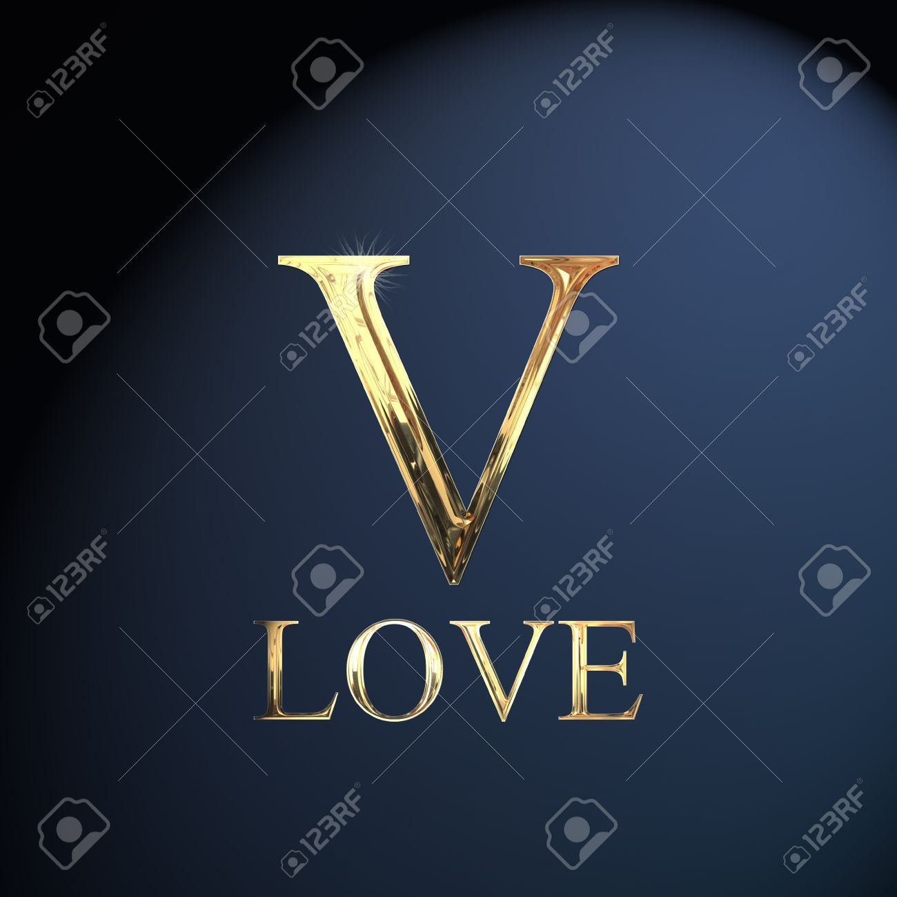 Gold Alphabet Letter V Word Love On A Blue Background Stock Photo Picture And Royalty Free Image Image 1405 Lettering Alphabet V Letter Images Name Wallpaper