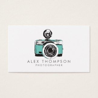 Vintage camera photographer business cards business cards vintage camera photographer business cards reheart Choice Image