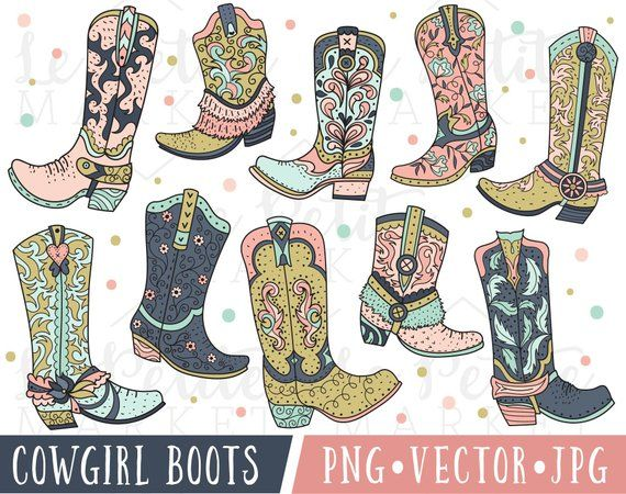 1b6a866d472e4 Pink Cowgirl Boot Clipart