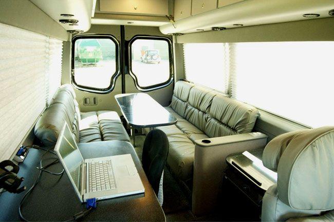 Land jet mobile office vans 56616 elk park drive for Mercedes benz sprinter custom interiors