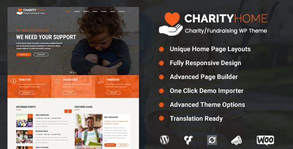 Charity Home - Charity/Fundraising WordPress Theme | Wordpress ...