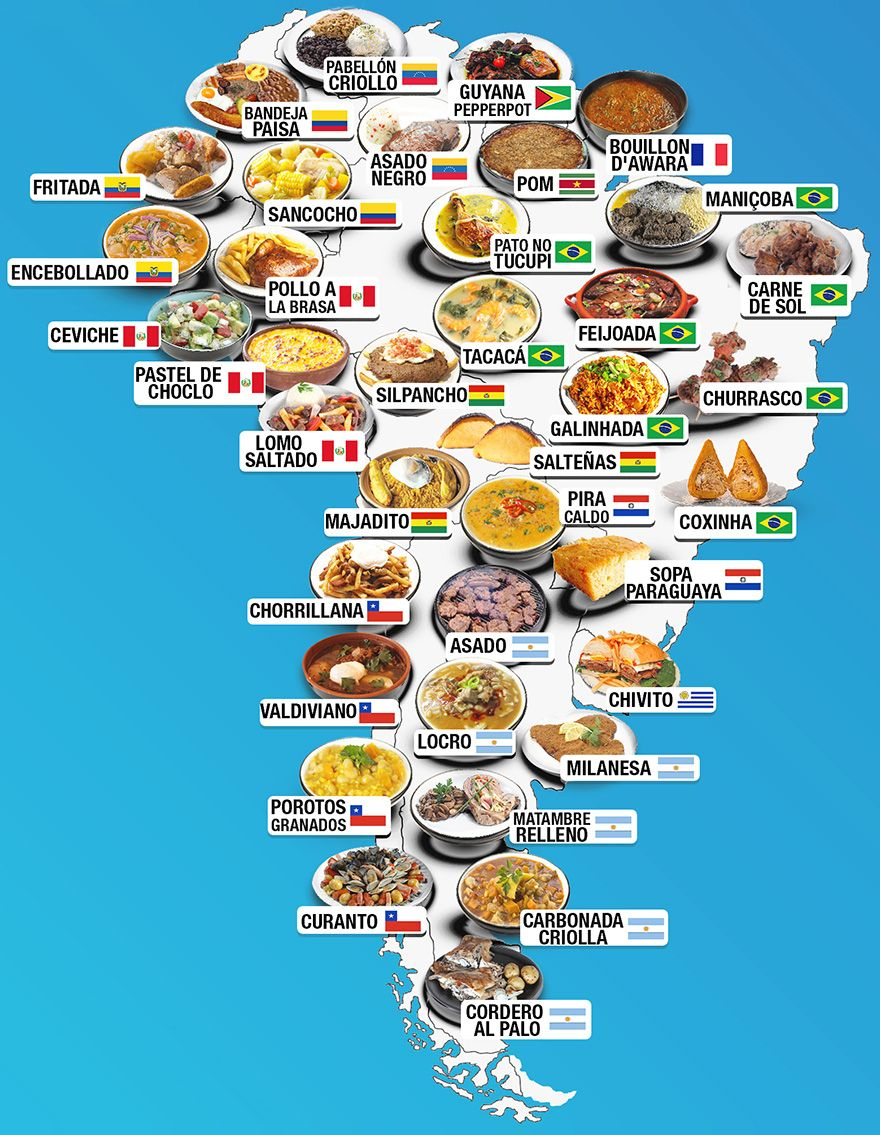 30 maps reveal the tastiest dishes around the world