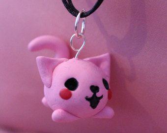 Chibi fat cat necklace