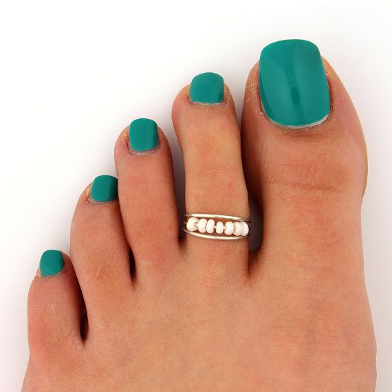 sterling silver toe ring Bead and wire design toe ring adjustable toe ring (T- 58) also knuckle ring on Etsy, $9.98
