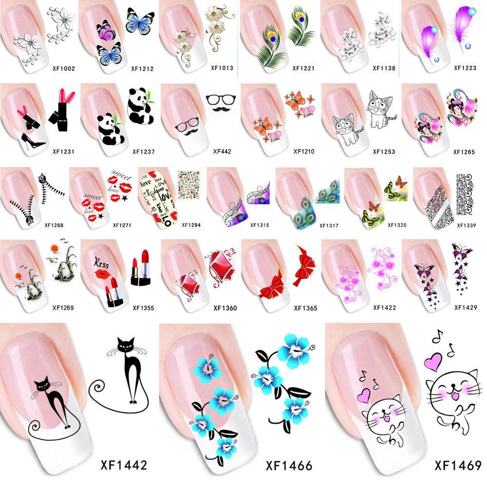 Fashion Wassertransfer Nail art Aufkleber Aufkleber Cartoon Katze ...