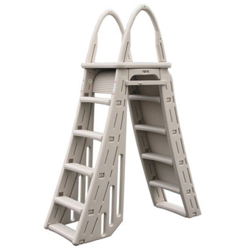 Confer A-Frame Above Ground Pool Ladder with Roll Guard - 7200 ...