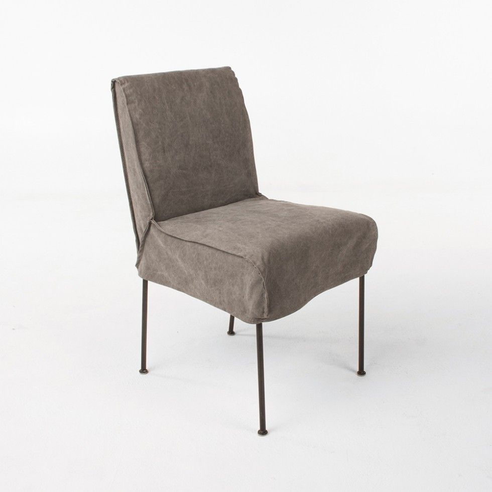 Bergen Grey Stonewashed Canvas Dining Chair Chairs
