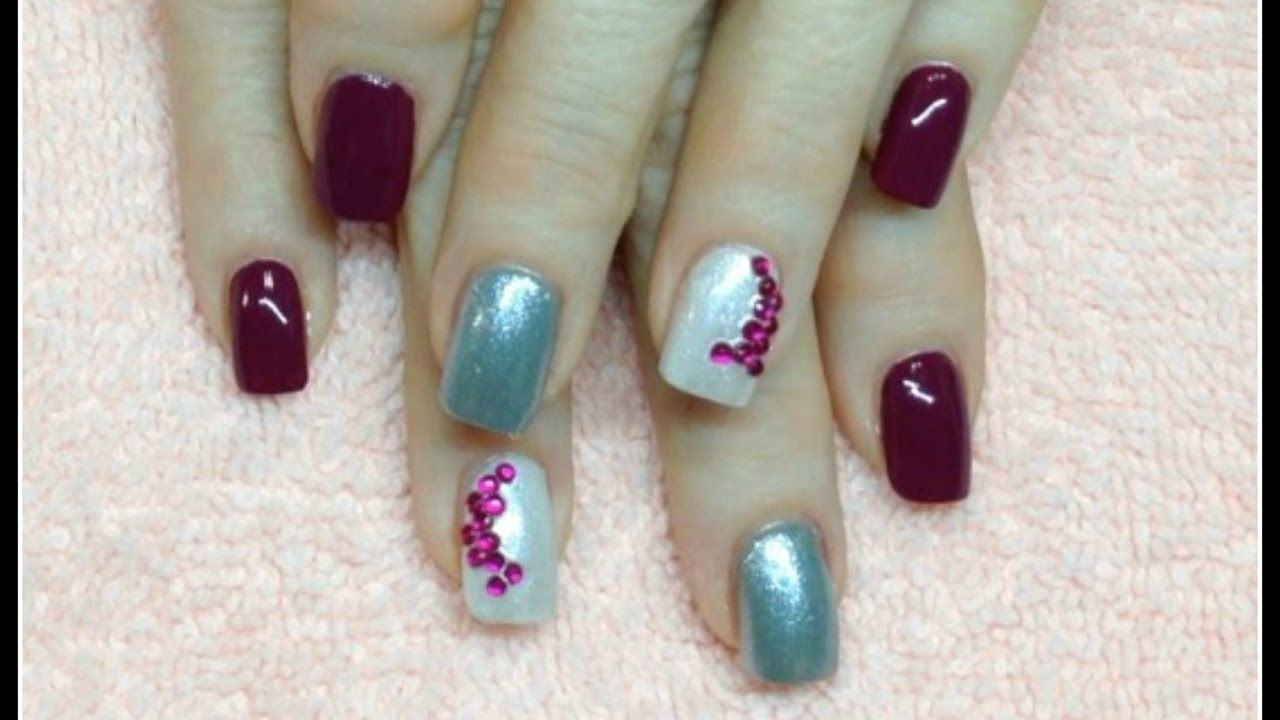 Rhinestone Nail Art And Polish Application Here Is A Quick And Easy