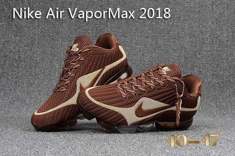 0c9c3b6e6e Nike 2018 Nike air Vapor MAX 2018 KPU Running Men Brown Beige White ...