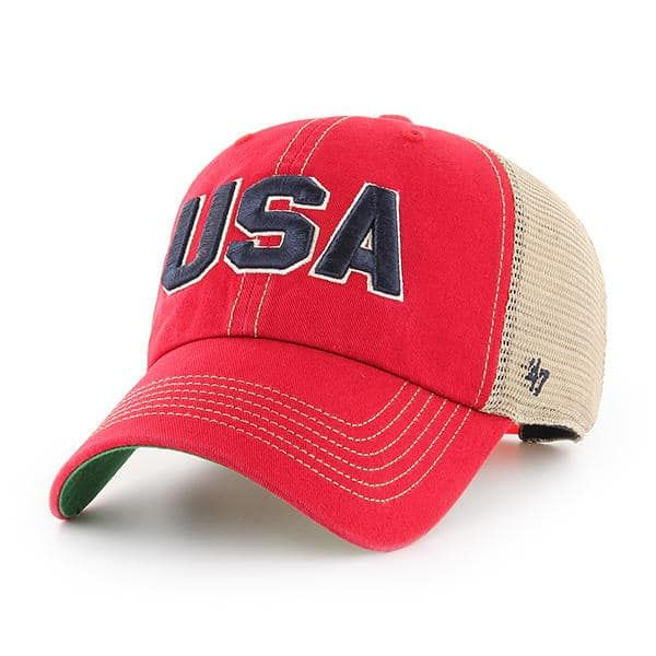 c6f1e79338c Operation Hat Trick Clean Up Trawler Red 47 Brand Adjustable USA Flag Hat