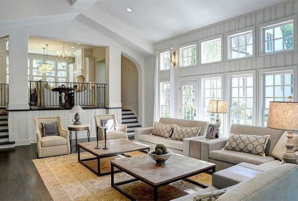 5 Ways To Cozy Up A Large Living Room Large Living Room Furniture Large Living Room Design Big Living Rooms