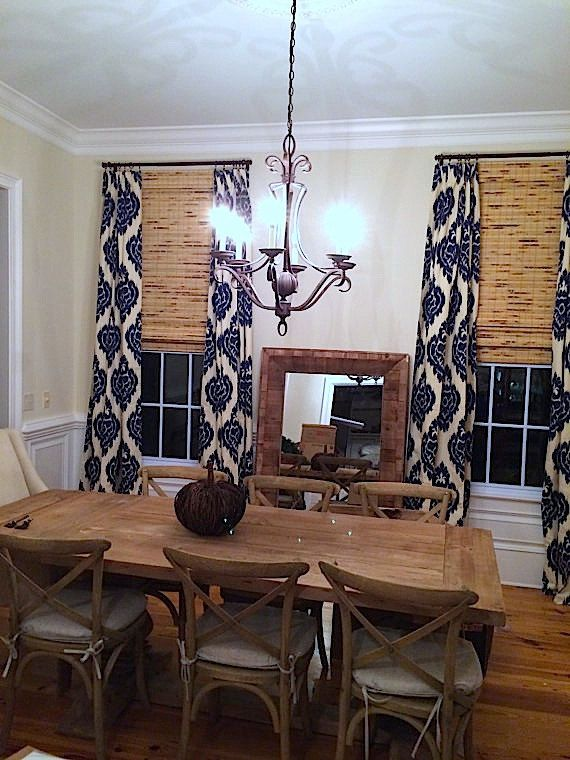 IKAT CURTAINS. Duralee Home Kalah Ikat. 2 Curtain Panels 50x84. Blue And  Beige