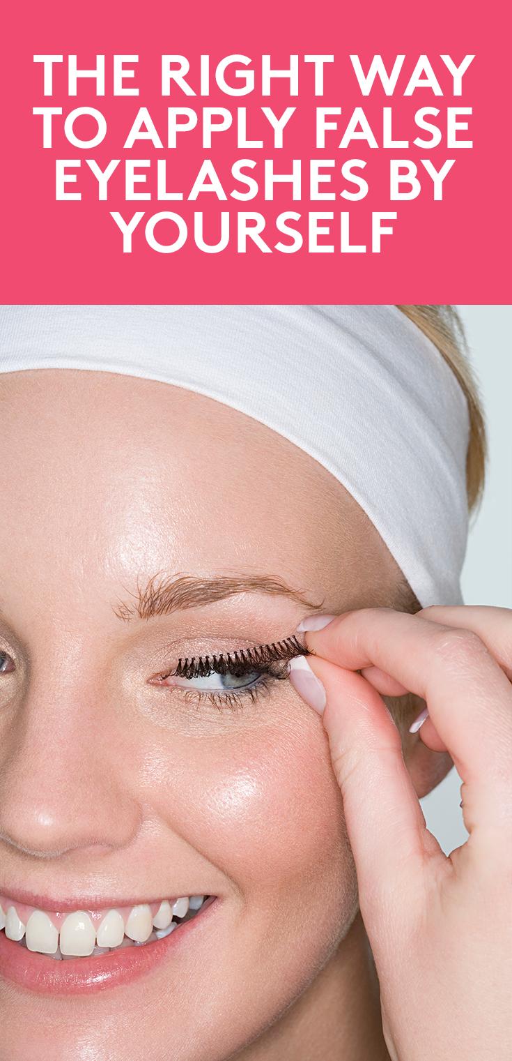 How to Apply False Eyelashes | Applying false eyelashes ...