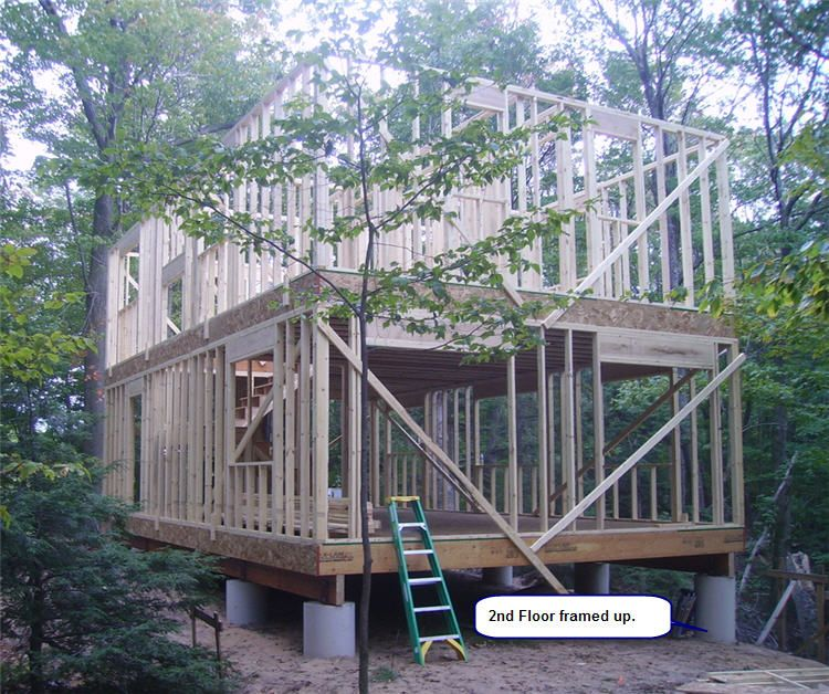 20x34 Classic 2 Story Timber Frame Construction Shed Building Plans Pier And Beam Foundation