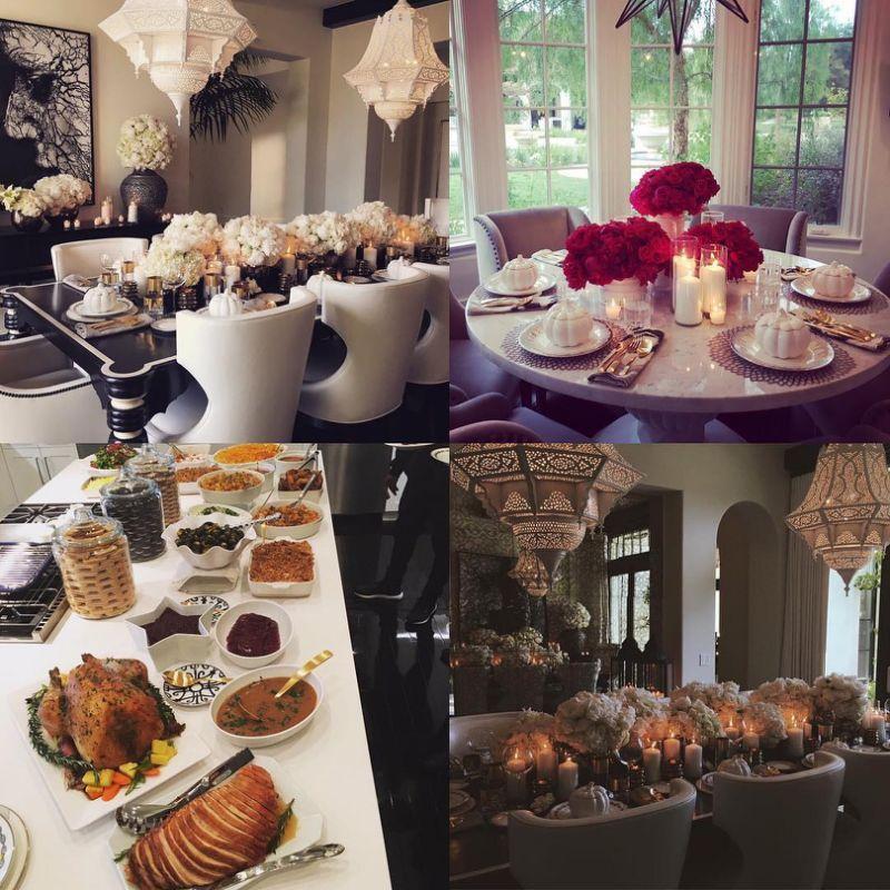 Khloe Kardashian Hosts Lavish Thanksgiving Dinner Surrounded by 'Blended' Family