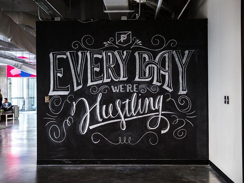 office chalkboard. Every Day We\u0027re Hustlin\u0027 By Shauna Lynn Panczyszyn Office Chalkboard