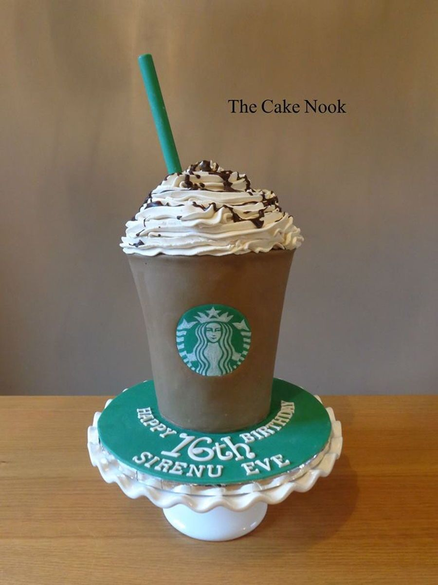 Starbucks Frappacino Cake Starbucks chocolate Frappacino cakeMade