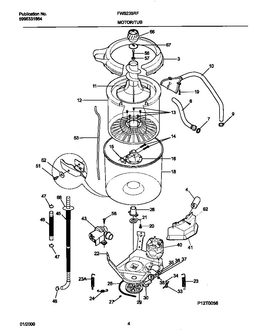 exploded view; washer