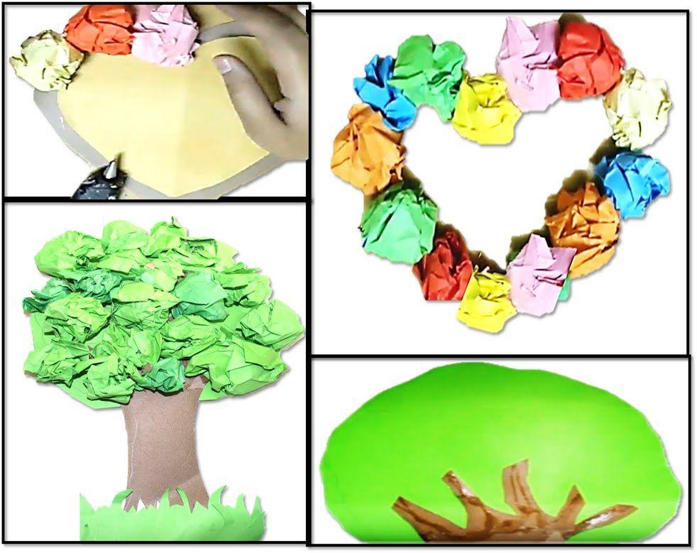 فكرة عمل فني لرياض الاطفال والصفوف الاولية ابداعات ورقية الجزء 10 Hand Art Art