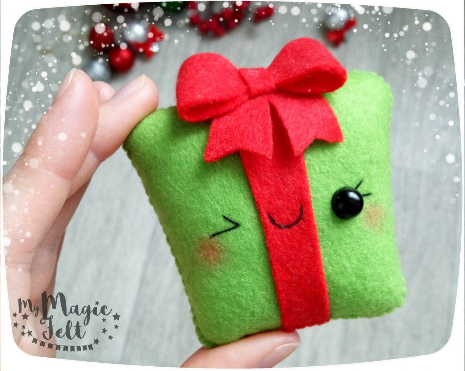 Gift Box Christmas Decorations Christmas Ornaments Felt Gift Box Ornament For Christmas Tree Cute