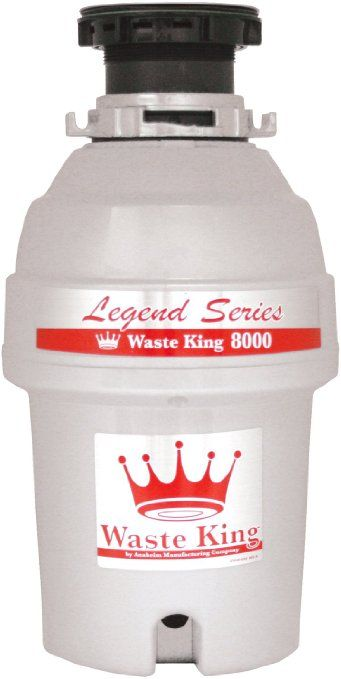 Rated 1 On Consumer Reports Waste King L 8000 Legend Series 1 0 Horsepower Continuous Feed Garbage Disposal Garbage Disposal Garbage Waste Disposal