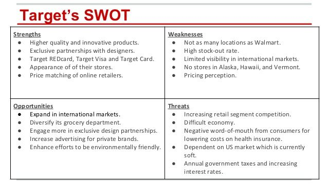 target-corporation-market-analysis-11-638jpg (638×359) branding - Product Swot Analysis Template