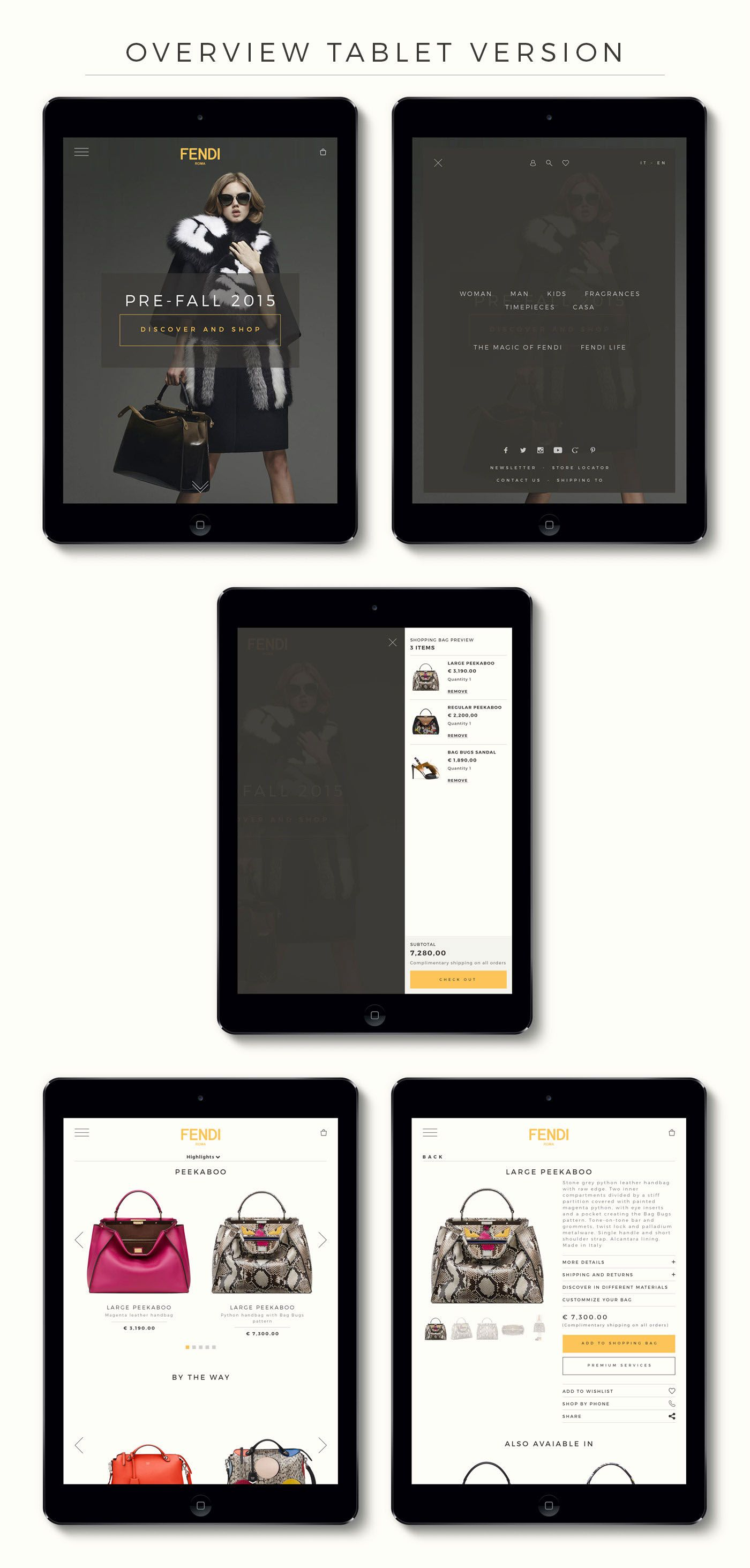 Fendi eCommerce Design on Behance