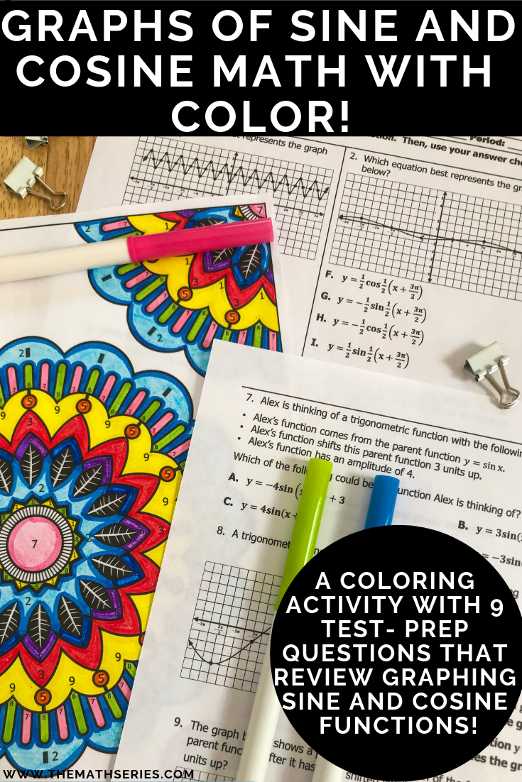 Graphing Sine and Cosine Functions Math with Color | The