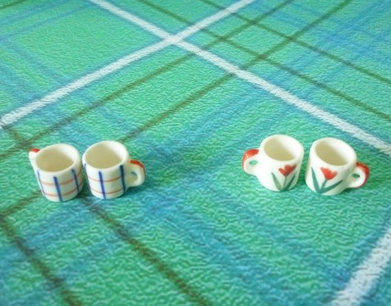 Miniature mug set of 2 dollhouse mug Tiny cup /fairy kitchen supply /Miniature kitchen/ Dollhouse miniatures/ Fake mug #miniaturekitchen