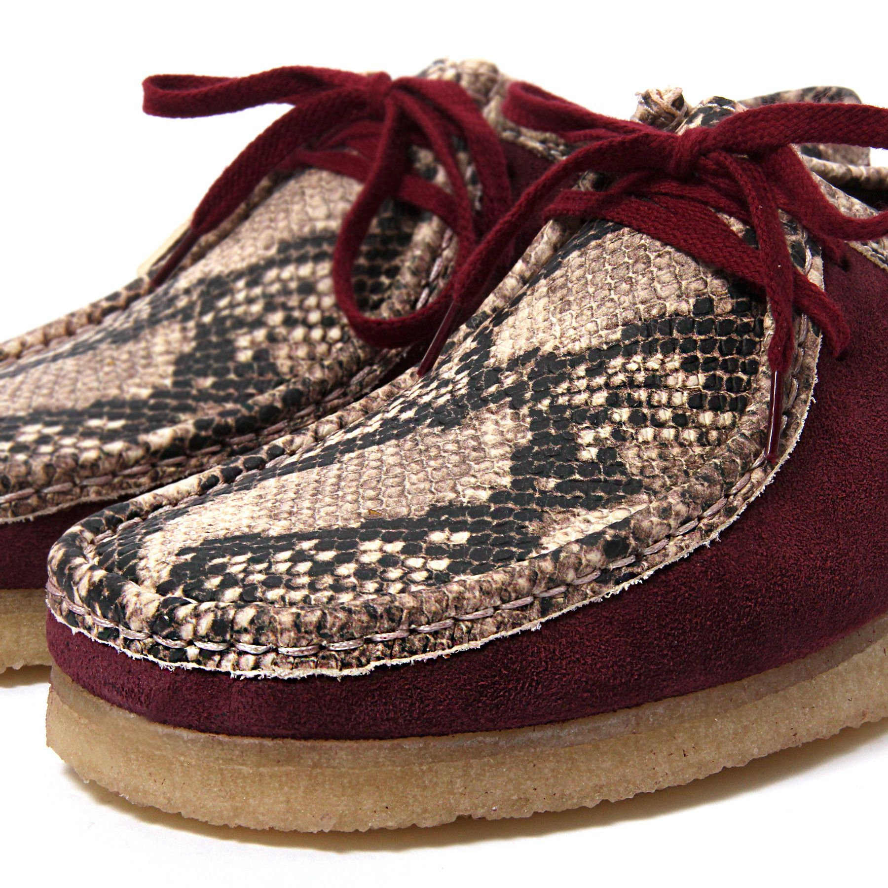les concepts concepts x x concepts clarks wallabee serpent international bourgogne 961469