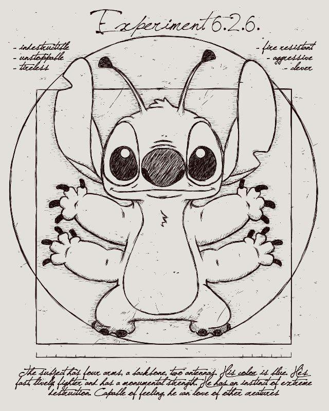 Stitch Vitruvien Propuesta Para Camiseta De Leduc Presentada A