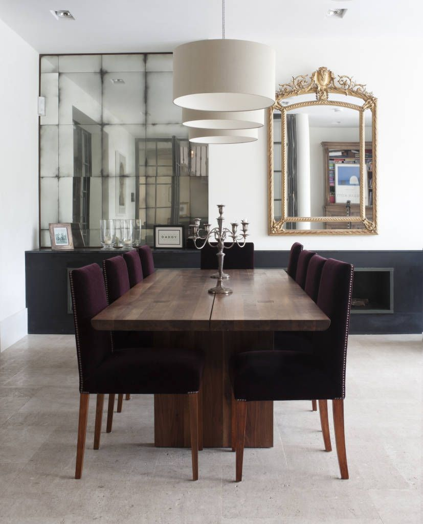 Dining area alcove mirrors: minimalist by rupert bevan ltd ...