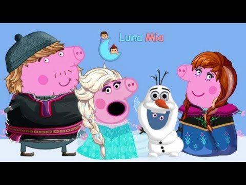 PEPPA PIG SE DISFRAZA DE LOS PERSONAJES DE FROZEN - YouTube